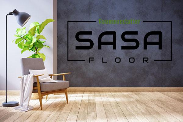 SaSa Floor Logo an der Wand